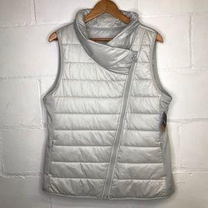 Reebok Puffer Vest Silver XL
